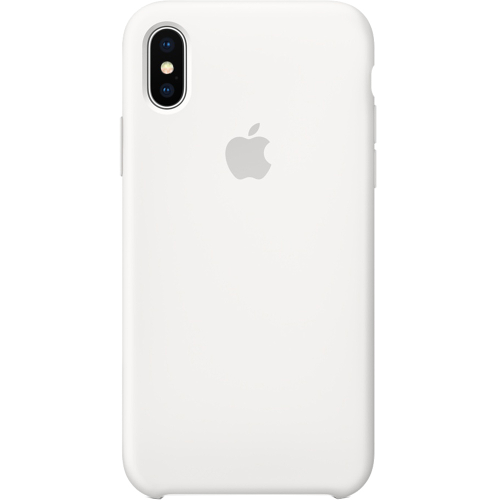 Husa Capac Spate Silicon Alb APPLE iPhone X