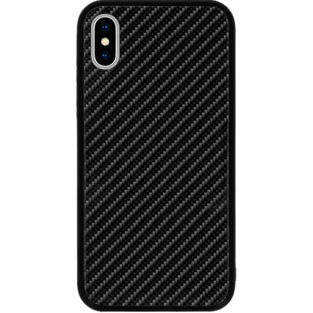 Husa  Carbon Glass Negru APPLE iPhone X